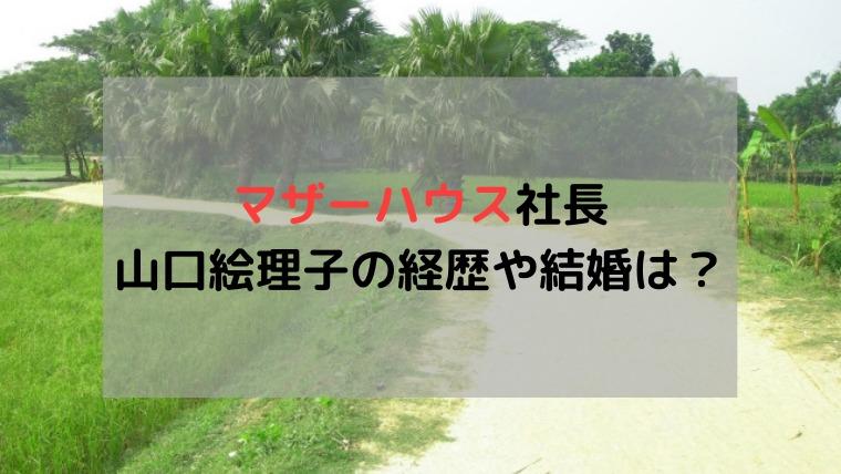 マザーハウス 社長 山口絵理子 結婚 本