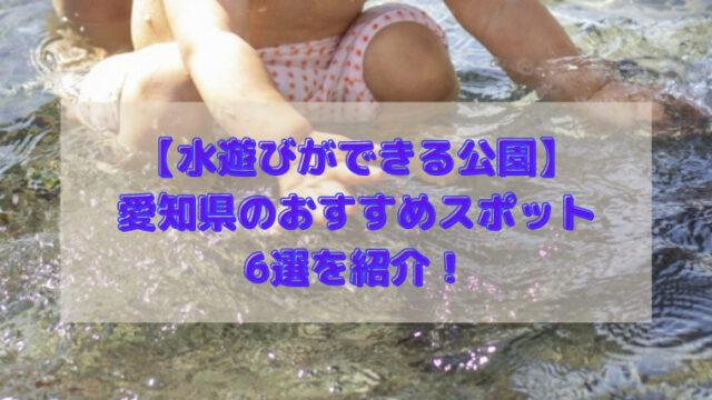 水遊びができる公園 愛知