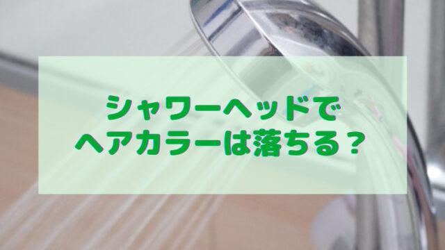 シャワーヘッド ヘアカラー