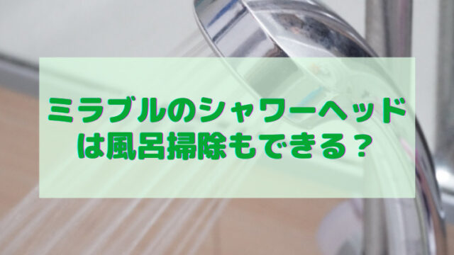 ミラブル シャワーヘッド 風呂掃除