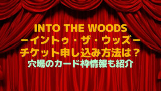 into the woods チケット